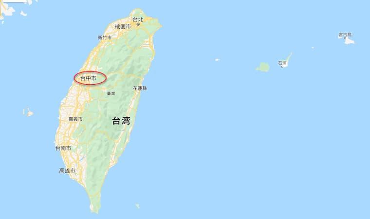 台湾台中の位置