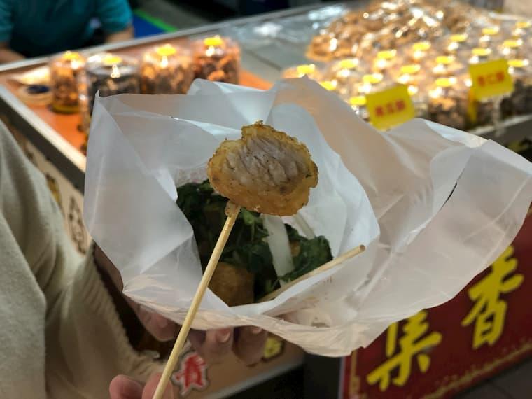 白身魚の鹹酥雞(シェンスージー)